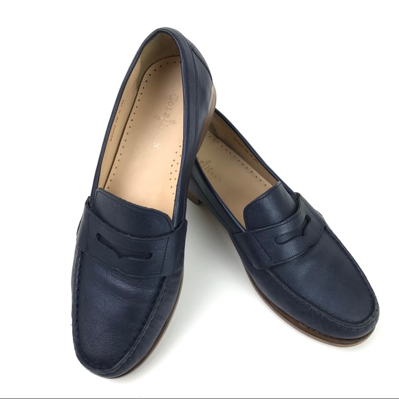 fb1e779f96a Cole Haan Shoes - Cole Haan Womens Penny Loafers Navy Blue Leather